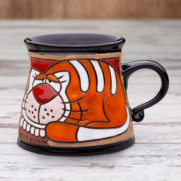 Керамична чаша Котешки релакс