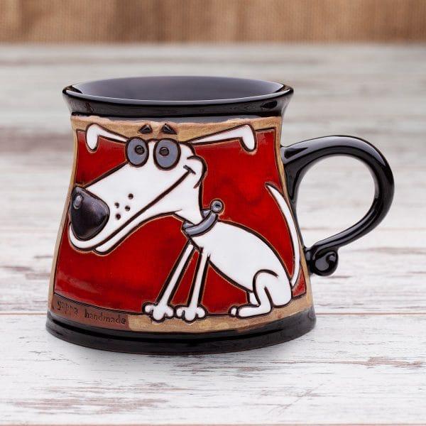Керамична чаша Бяло куче