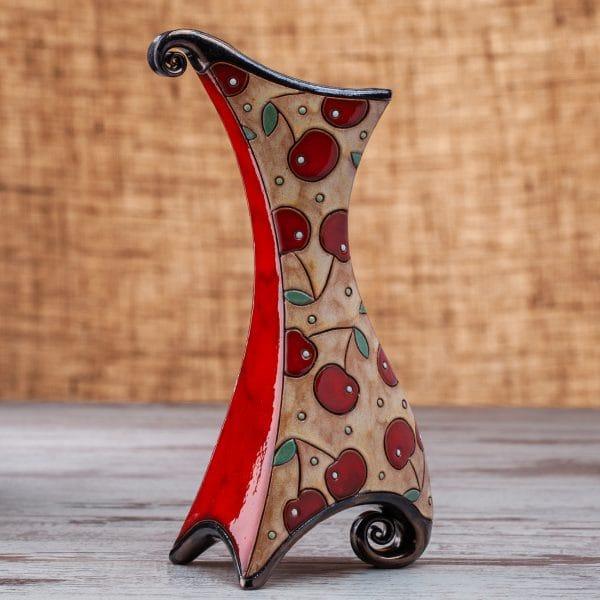 Керамична ваза Череши