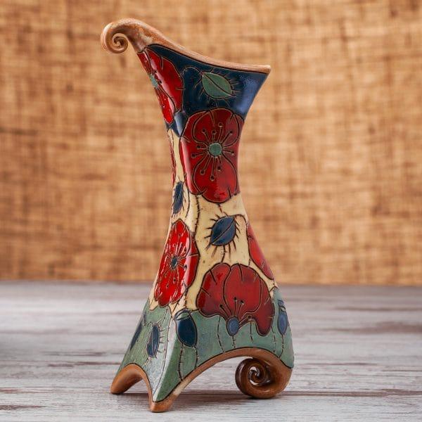 Керамична ваза Макове