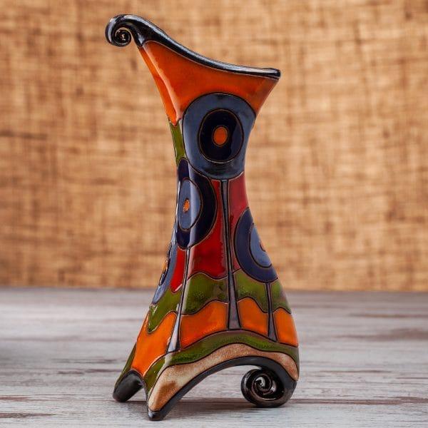Керамична ваза Сини дръвчета