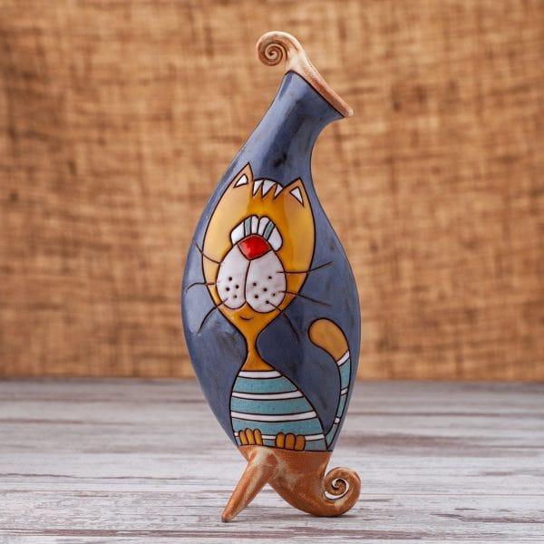 Керамична ваза Котки портрет