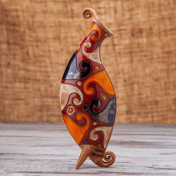 Керамична ваза Вълни