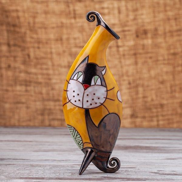 Керамична ваза Котенце с кълбо
