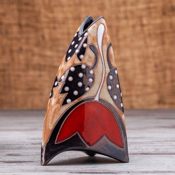 Керамична ваза ръчна изработка Лале