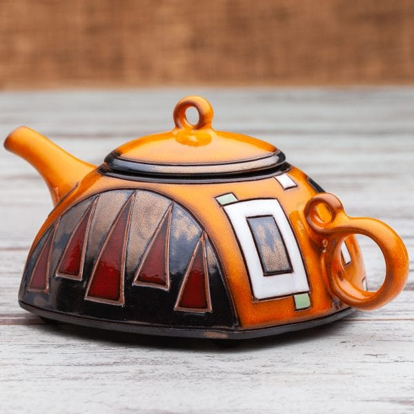 Керамични чайници Оранжеви квадрати