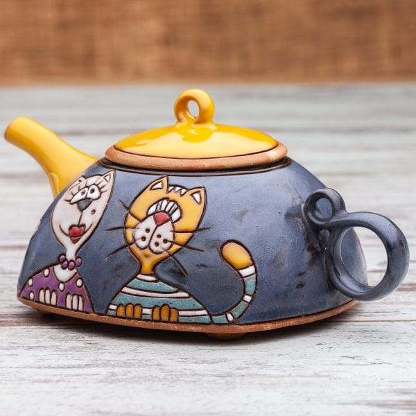 Керамични чайници Котки портрет