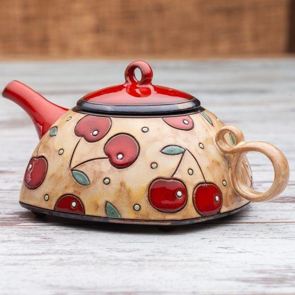 Керамични чайници Череши