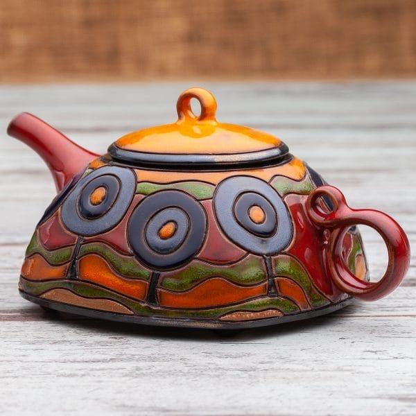 Керамични чайници Сини дръвчета