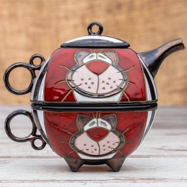 Чайник с чаша Котка Райе