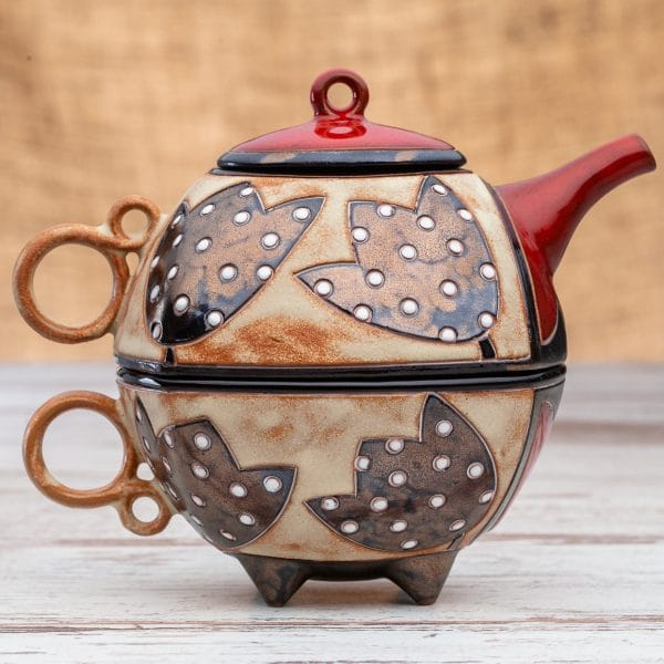 Чайник с чаша Лале