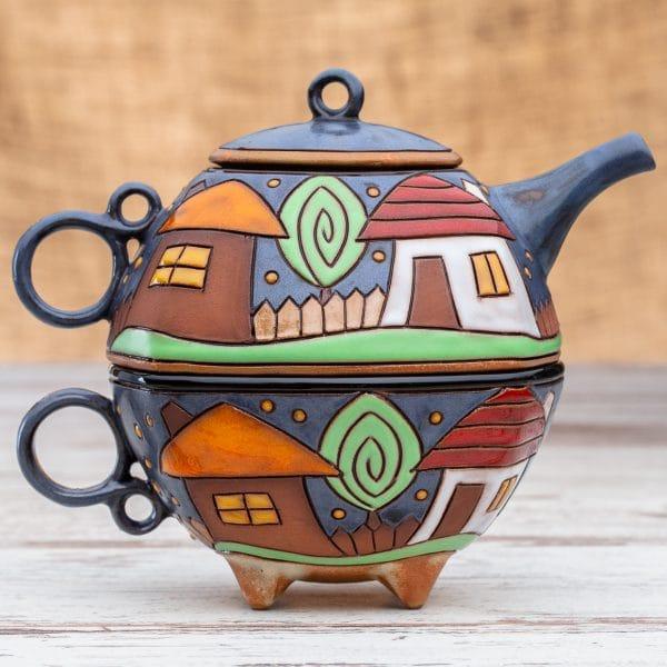 Чайник с чаша Къщички
