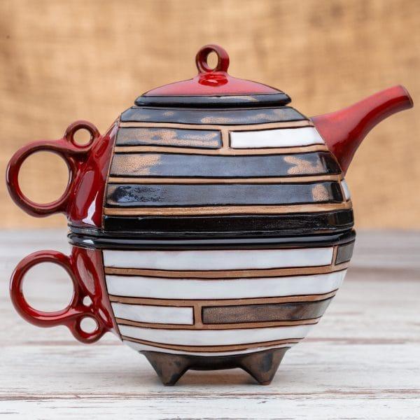 Чайник с чаша Пиано