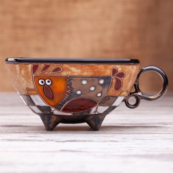 Керамична чаша Кокошка на шахматна дъска