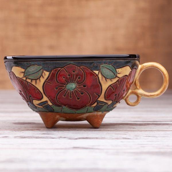 Керамична чаша Макове