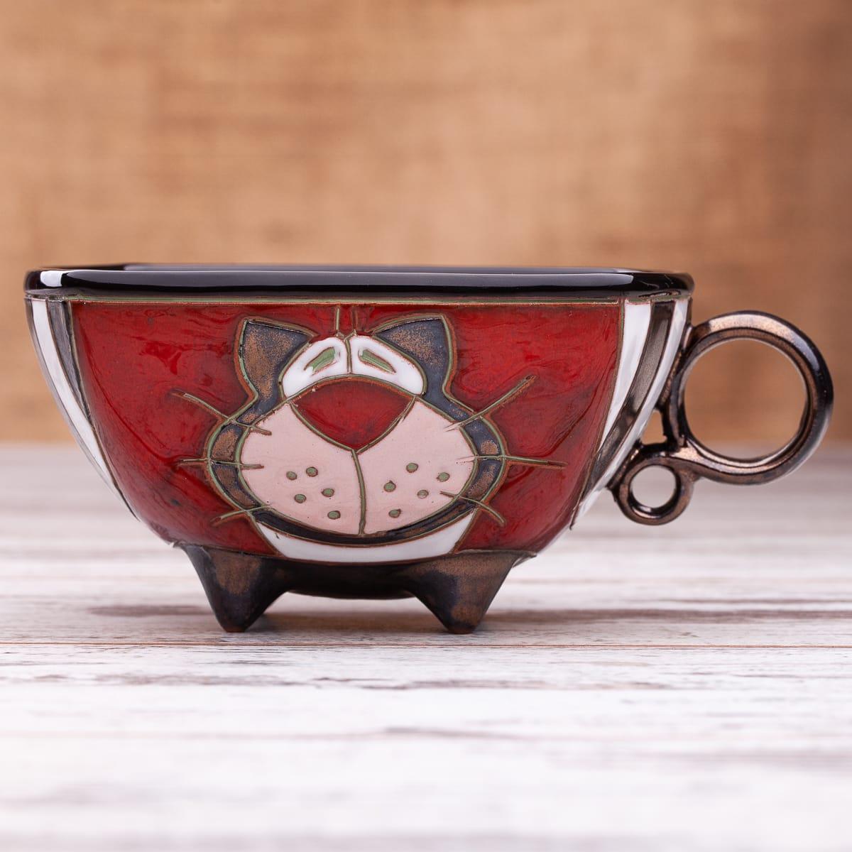 Керамична чаша Котка Райе