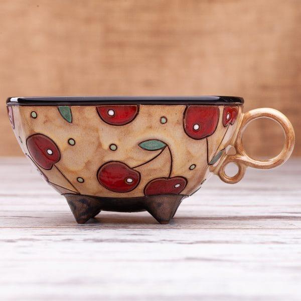 Керамична чаша Череши