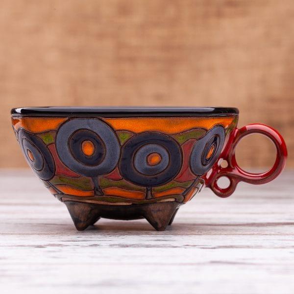 Керамична чаша Сини дръвчета