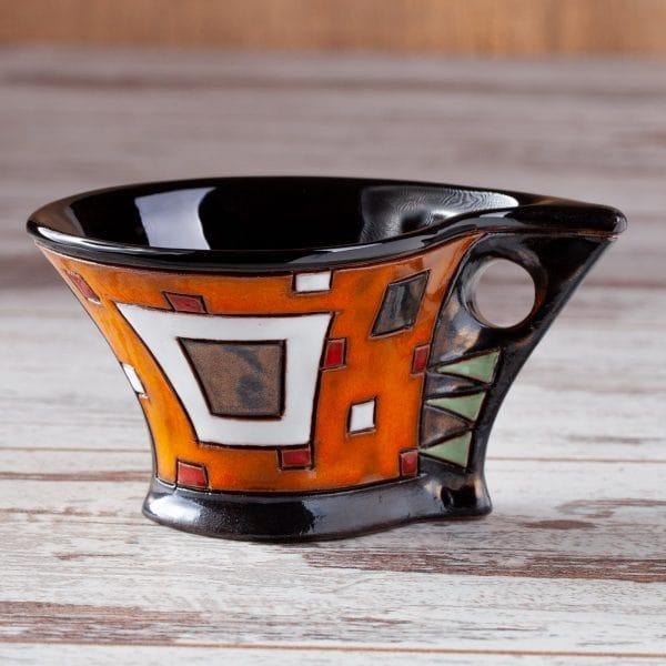 Керамична чаша Оранжеви квадрати