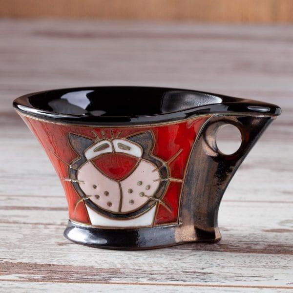 Керамична чаша Котка рае