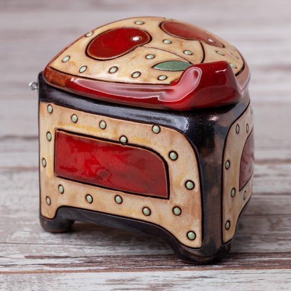 Керамична кутийка Череши