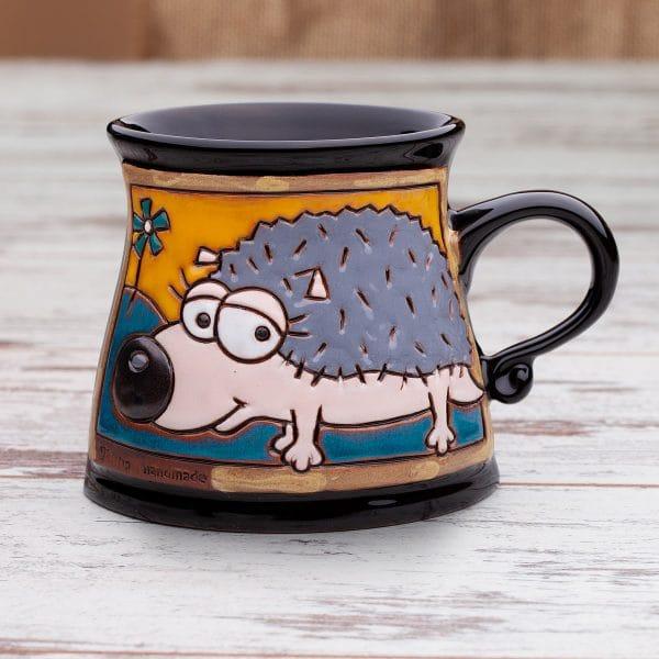 Керамична чаша Веселият таралеж