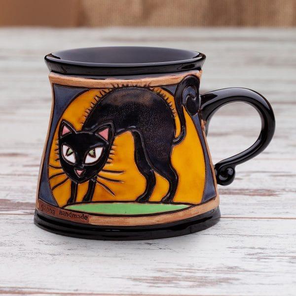 Керамична чаша Котка в атака