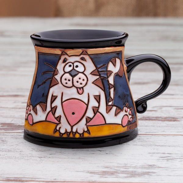 Керамична чаша Котарак в шпагат