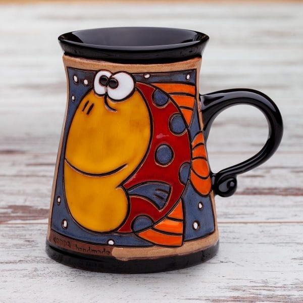 Керамична чаша Умната риба