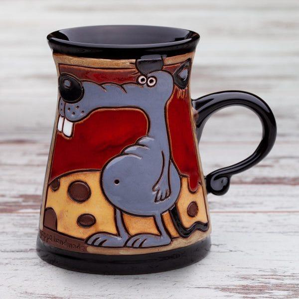 Керамична чаша Мишка върху сиренце