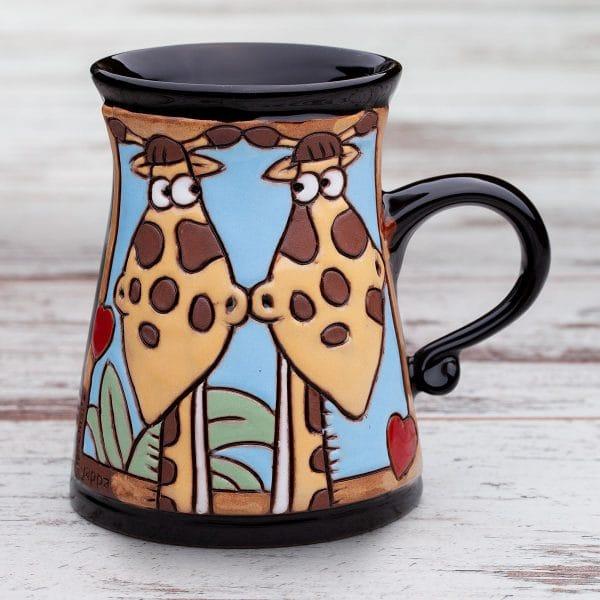 Керамична чаша Влюбените жирафи