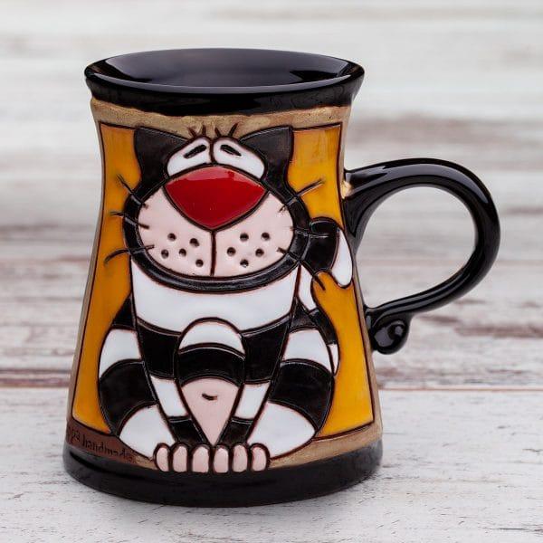 Керамична чаша Котенце райе
