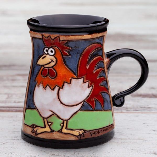 Керамична чаша Петел в градина
