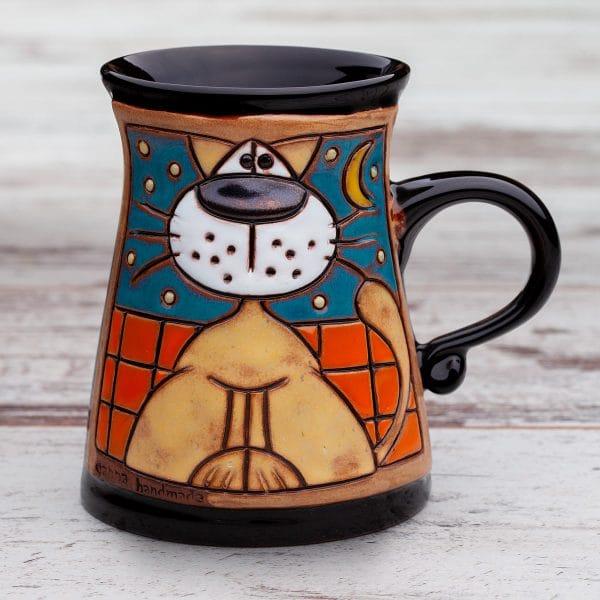 Керамична чаша Котка на покрив