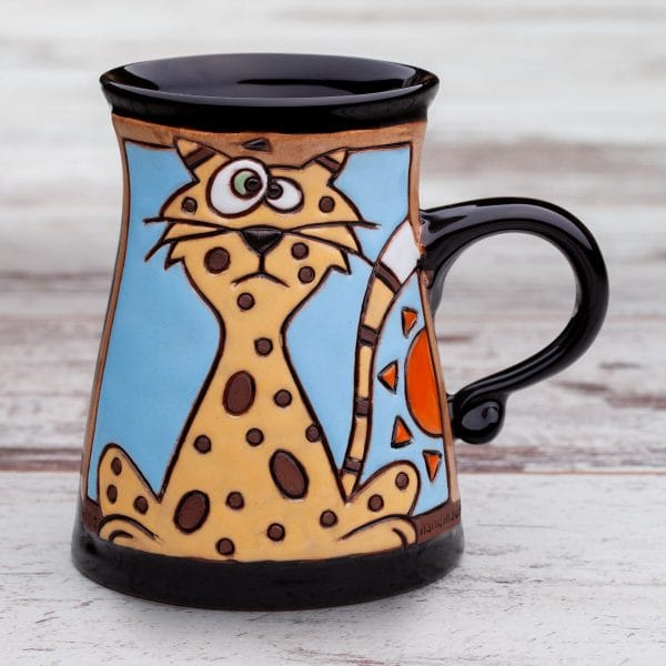 Керамична чаша Котка изследовател