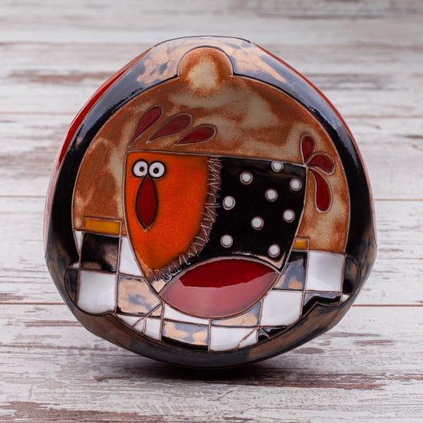 Керамични пепелници Кокошка на шахматна дъска