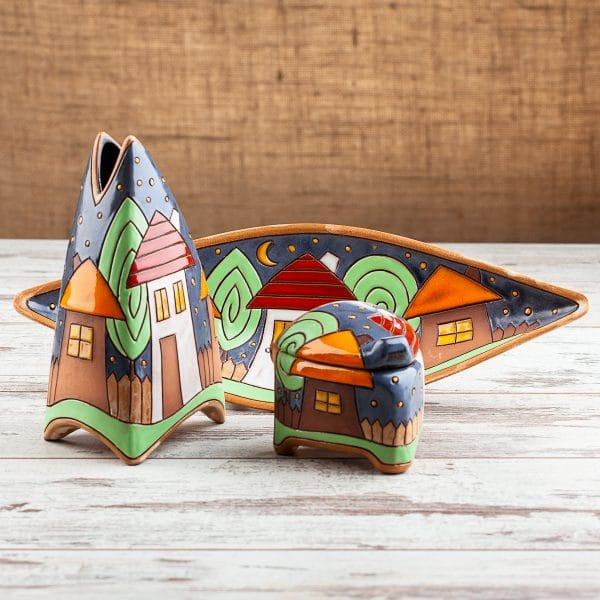 Керамичен комплект Къщички