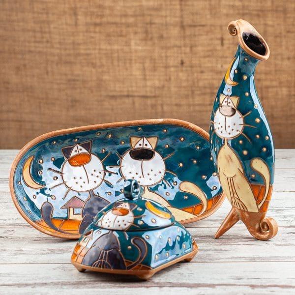 Керамичен комплект Котки на покрив
