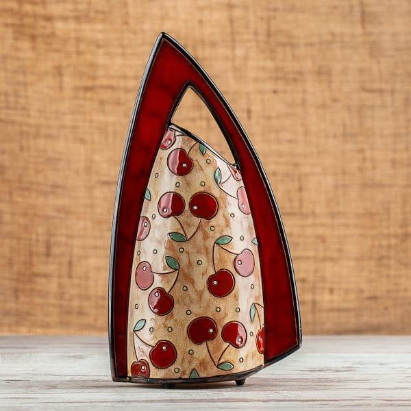 ръчно изработена керамична ваза Череши