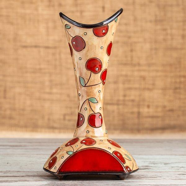 Керамична ваза Шише Череши