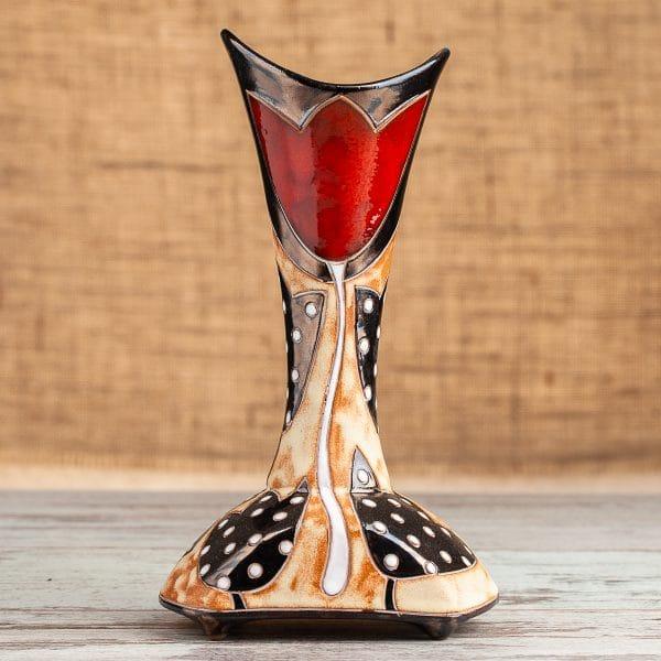 Керамична ваза шише Лале