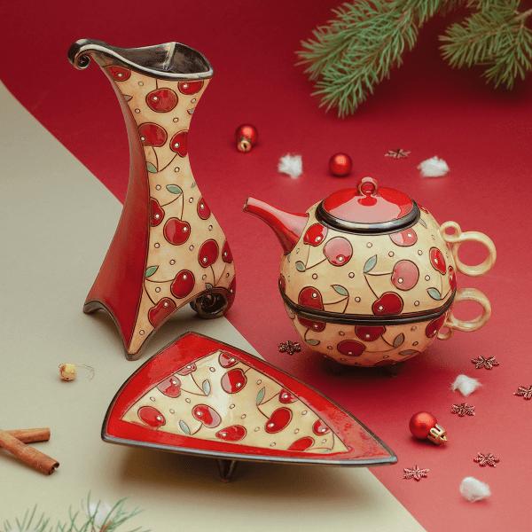 Коледен комплект Черешки керамични продукти онлайн